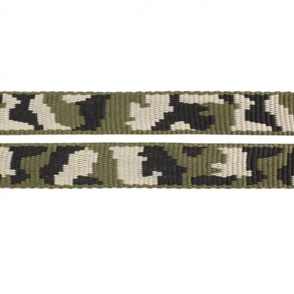 Gurtband mit Motiv - Grün / Knochenförmiges