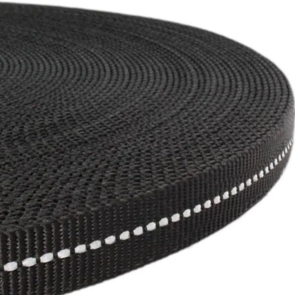 Gurtband mit stark reflektierenden Streifen - Schwarz