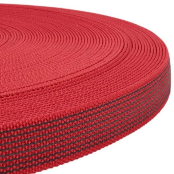 Gurtband mit Gummifäden - Rot