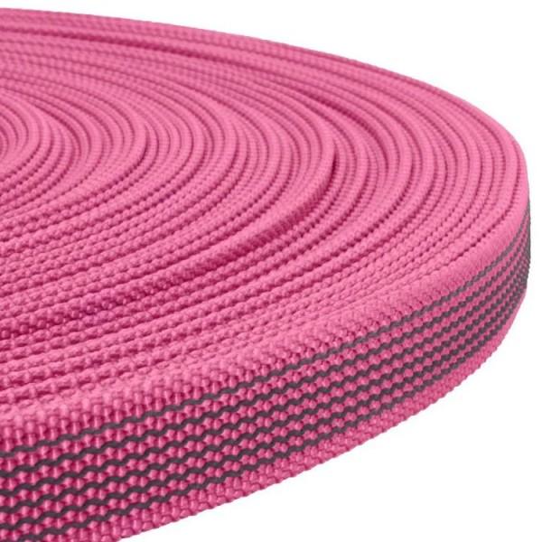 Gurtband mit Gummifäden - Neon Rosa