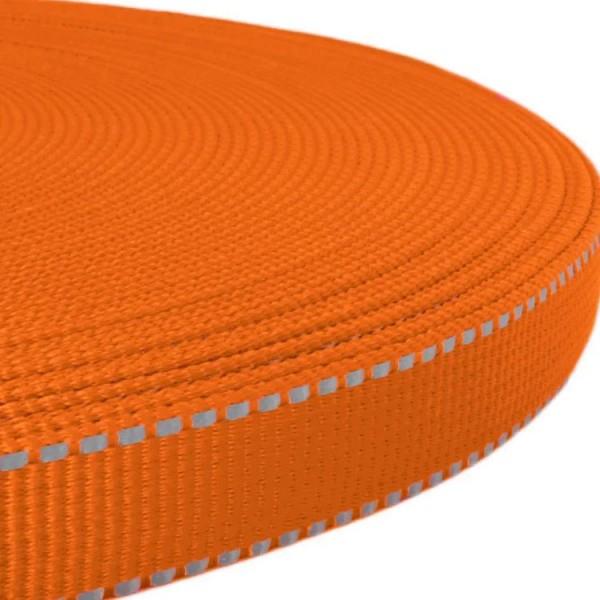 Gurtband mit stark reflektierenden Streifen - Orange