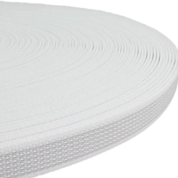 Gurtband mit Gummifäden - Weiß