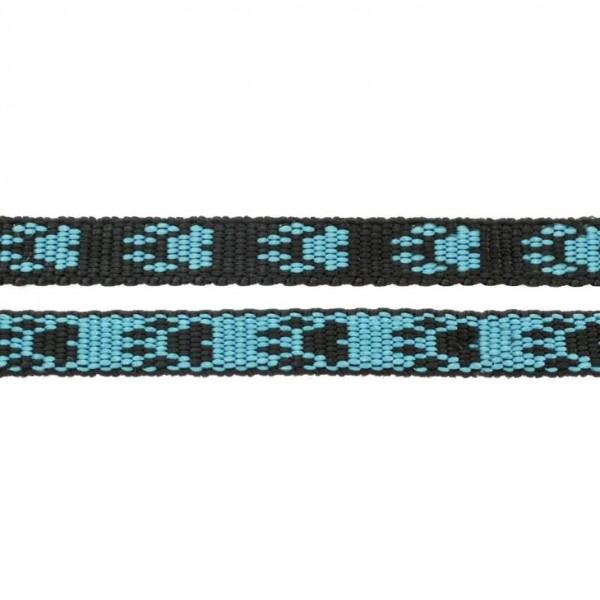 Gurtband mit Motiv - Blau / Schwarz / Pfoten