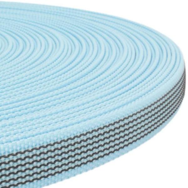 Gurtband mit Gummifäden - Hellblau