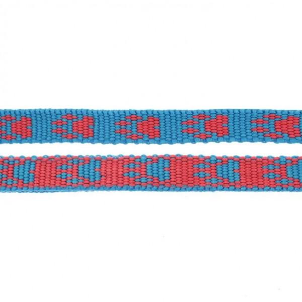 Gurtband mit Motiv - Blau / Rot / Pfoten