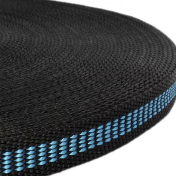 Gurtband mit Motiv - Schwarz / Blau Welle