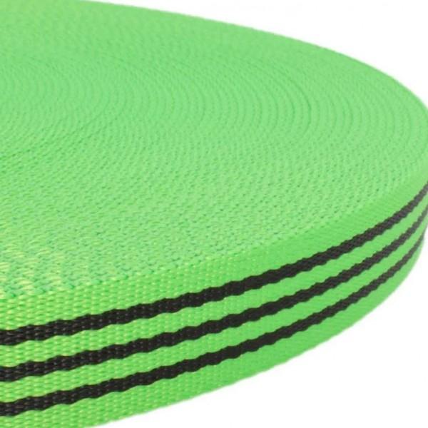 Gurtband mit Motiv - Grün / Schwarz Streifen