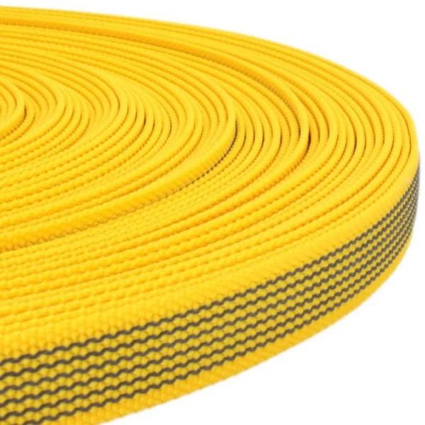 Gurtband mit Gummifäden - Gelb