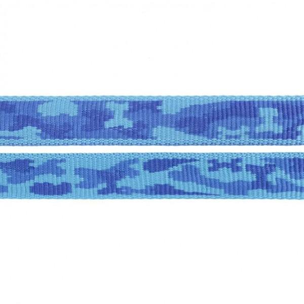 Gurtband mit Motiv - Blaues, knochenförmiges