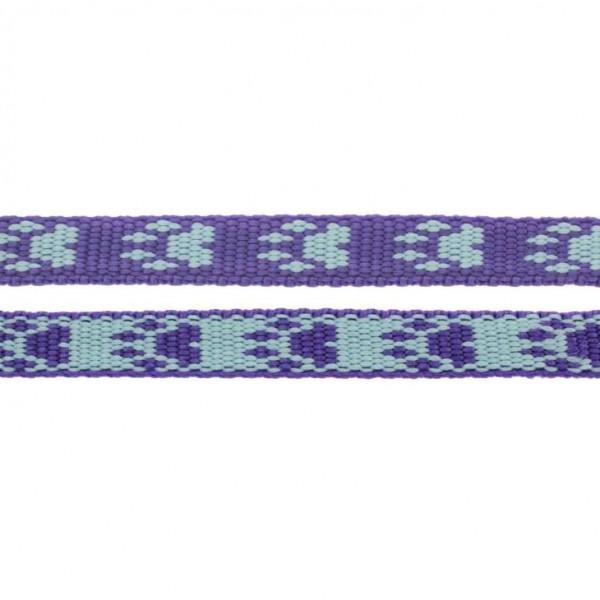 Gurtband mit Motiv - Lila / Blau / Pfoten