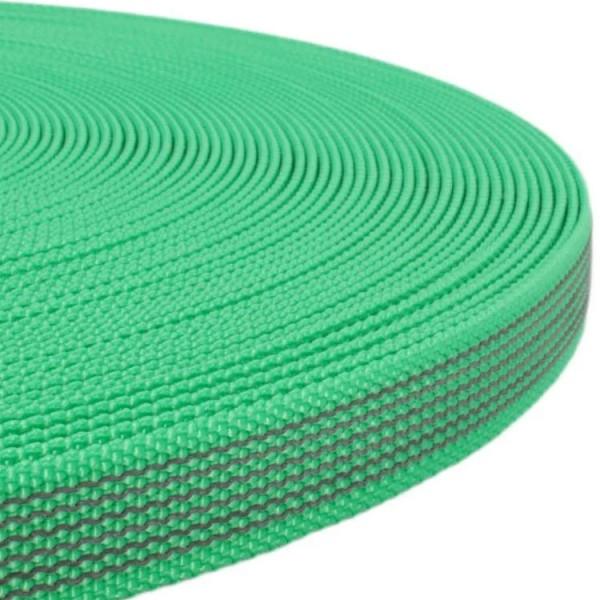 Gurtband mit Gummifäden - Grün
